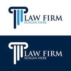 Pillar Logo Design for law firm, attorney or university
