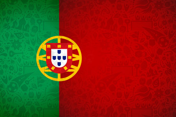 Portugal flag background for russian soccer event