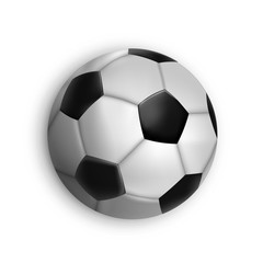 Sport game event soccer ball isolated