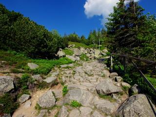 Kamienna ścieżka wiodąca przez polskie góry - szlakiem przez Karkonosze