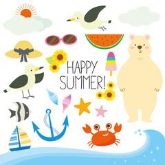 Happy summer illustration