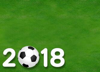 2018 soccer ball on grass