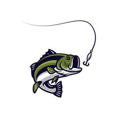 Fish vector mascot icon illustration