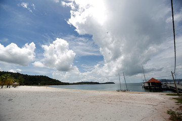 Dara Sakor beach in seen near Dara Sakor Hotel at Botum Sakor in Koh Kong province