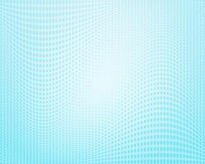 Light blue wavy halftone background