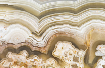 Closeup of crazy lace agate banding