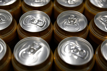 Cans of Cisk Lager are seen at the beer packaging facility at Farsons Brewery in Mriehel