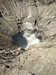 Crater of Bromo volcano in Bromo Tengger Semeru National Park, East Java, Indonesia