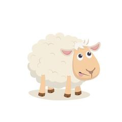 Cute sheep happy vertor