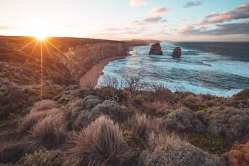 The Twelve Apostles along the Great Ocean Road, Victoria, Australia.
