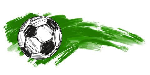 football, soccer ball, russian flag sports game, emblem sign, hand drawn vector illustration sketch