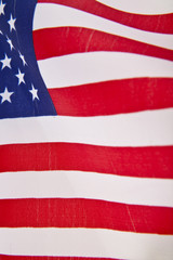 US flag as background