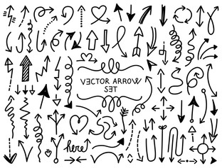Hand draw arrow vector set 4