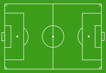 Scheme of the football field, soccer field. marking of football field, soccer field. vector textures
