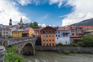 Old bridge in Murau, Austria