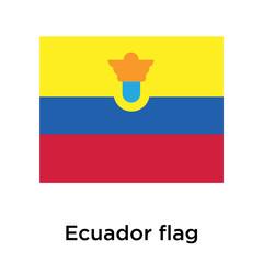 Ecuador flag icon vector sign and symbol isolated on white background, Ecuador flag logo concept