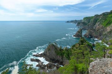 岩手県北山崎は足が竦むような200mの大海食崖