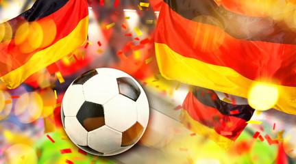 Fussball Hintergrund Deutsche Flagge Bundesliga