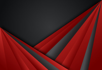 Red and Black abstract layer geometric background