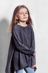 5c21e0ebfec44 Portrait little fashion kid. Beautiful child fashion poses. Stylish ...