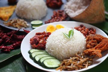 Asian food nasi lemak