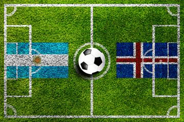 Argentinien gegen Island Fußball Weltmeisterschaft