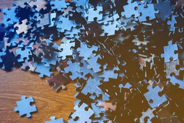 Puzzle on background