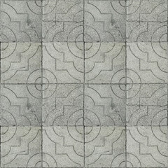 Seamless photo texture of pavement tile from natural stone with arabic ornament