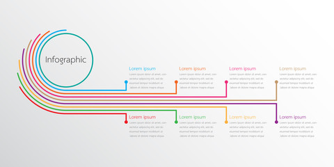 Vector infographic templates used for detailed reports. All 8 topics. Wall mural