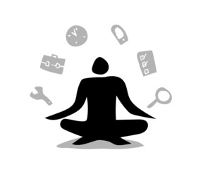 Stickman Black Meditation