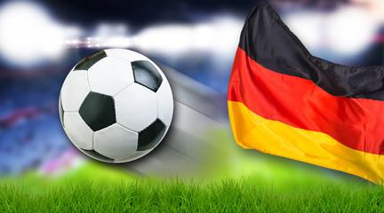 Fussball Deutschland Flagge Fan Freisteller