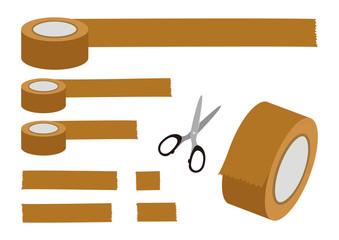 梱包用テープ イラスト素材