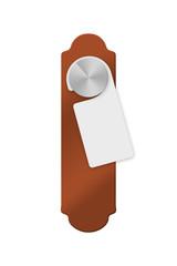 Door Handle with Blank Hanger