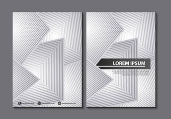 abstract covers background white geometric figures vector illustration