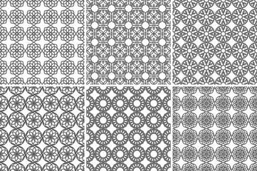 Seamless Geometric Pattern Gray