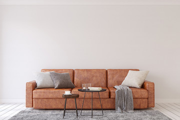 Living-room interior. 3d render. Wall mural
