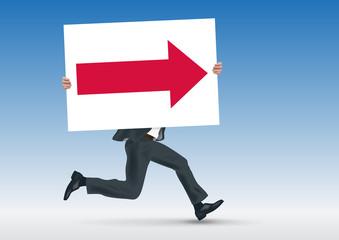 direction - orientation - présentation - concept - pancarte - leadership - flèche - stratégie