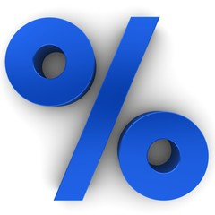 discount sign 3d percent percentage isolated
