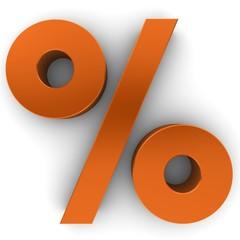 discount sign percent percentage 3d orange