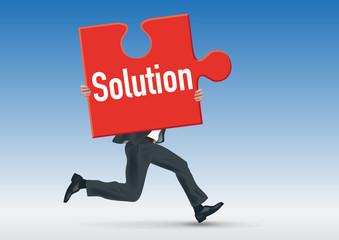 solution - projet - puzzle - concept - entreprise -conception - performance - problème - succès - réussite