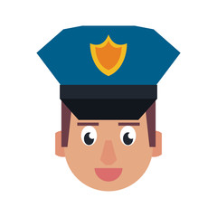 Cute police officer cartoon vector illustration graphic design