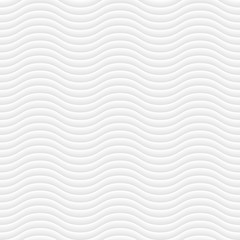 White modern wavy pattern. Vector seamless pattern. Volumetric geometric pattern