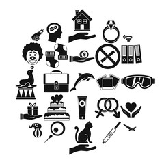 Rapture icons set. Simple set of 25 rapture vector icons for web isolated on white background