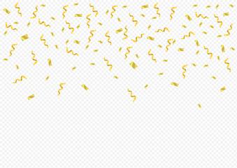 Golden confetti background