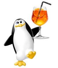 pinguino con aperitivo
