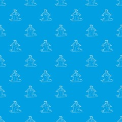Hut pattern vector seamless blue repeat for any use