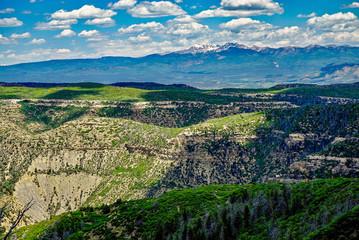 Spectacular view of Colorado Mountains near Mesa Verde National Park