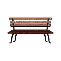 Wooden chair isolated vector illustration graphic design
