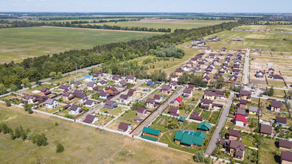 Aerial view of residential neighborhood