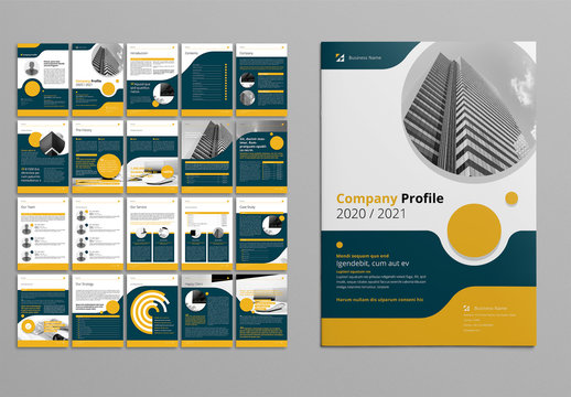 Business Proposal Layout with Yellow and Gray Accents